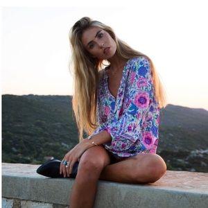 Spell Babushka Lavender Blouse